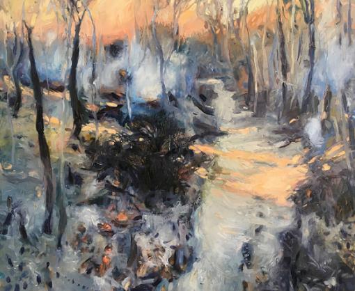 Raewyn Lawrence's artwork titled Smoke