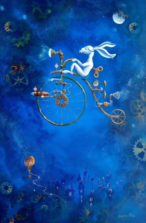 Now that's a bike artwork by Carmel Cox